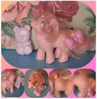 *My Little Pony Vintage Ponies G1 Baby Cotton Candy 1984 HTF W/ Brush & Barrette