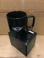 New MINI Cooper Logo Ceramic Coffee Tea Cup Mug 17 oz  Black 80902353385