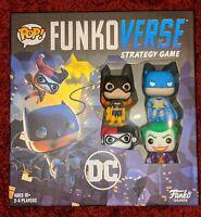 Funko POP Funkoverse DC Strategy Game#100 Batman Batgirl The Joker Harley Quinn