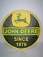 JOHN DEERE - CAST IRON - SIGN - FARMING / AGRICULTURAL / TRACTOR