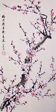 Plum blossom flower-ORIGINAL ASIAN ART CHINESE FAMOUS FLORAL WATERCOLOR PAINTING