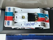 HURLEY HAYWOOD SIGNED BRUMOS PORSCHE 917/10,1/18 MINICHAMPS,  SIGNED PHOTO,COA