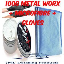AUTOBRITE DIRECT 1 X 100G METAL WORX CAR BIKE EXHAUST METAL POLISH+MICROFIBRE+GL