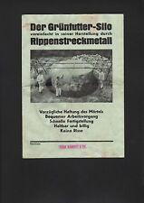 METALL, Prospekt 1935, Jakob Sammet & Co. Grünfutter-Silo Rippenstreckmetall