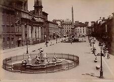 ROMA c. 1875 - 2 Photos Piazza Navona Italie - 4