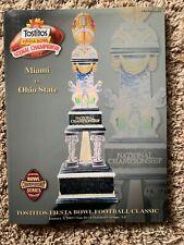 Ohio State Buckeyes 2003 Tostitos Fiesta Bowl Miami Hurricanes Program