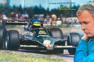 ***  RONNIE PETERSON  -  LOTUS / FORD  -  RACING  -  F1  ***  poster