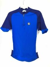 Pearl Izumi Mens Technical Wear Cycling Racing Jersey Blue Quarter Zip Shirt M