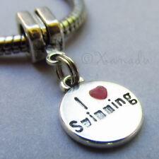 I Love Swimming European Bead - Large Hole Bead For European Charm Bracelets