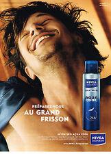 PUBLICITE ADVERTISING 054  2007 NIVEA déodorant pour homme  AQUA COOL     310514