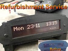 Peugeot 206 Jaeger 4 bulb Radio Clock Display PPT30 REPAIR SERVICE (REFURBISHMEN