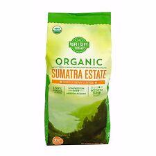 Wellsley Farms Organic Sumatra Estates Whole Bean Coffee, 40 oz