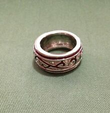 INTERESTING OLD PAWN CHUNKY RING - SIZE Q 1/2 (8.5)