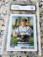 RUSSELL WILSON 2010 Bowman 1st TRUE Rookie Card RC GEM MINT 10 Seahawks $ HOT $