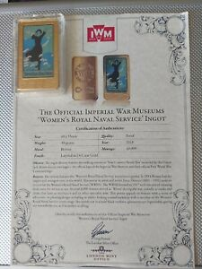 The Official Imperial War museums womens Royal navy service Ingot. Gold