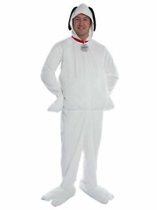 Deluxe Peanuts Snoopy Adult Costume LG or XL Charlie Brown's Pet Dog Licensed