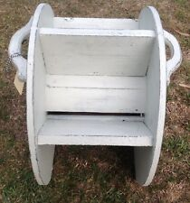 MAGAZINE RACK MADE FROM RECYCLED VINTAGE TIMBER INDUSTRIAL-SHABBY LOOK