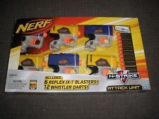 Brand New NERF Attack Unit 6 REFLEX IX-1 Blasters ~ 12 Whistler DARTS