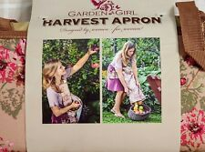 Garden Girl Harvest Apron floral garden fruit orchard picking storage NEW