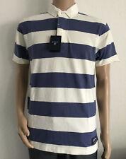 Gant O. P. Crema Barstripe Ss Rugby Camiseta Polo Nuevo Col Azul Iris TALLA L 6