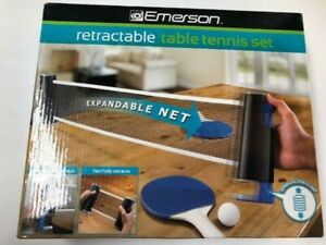 EMERSON SPRING LOADED RETRACTABLE TABLE TENNIS SET LOT X10