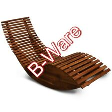 B-Ware Ergonomische Schwungliege/Saunaliege aus Akazienholz mit Wippfunktion