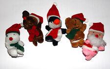 Christmas finger puppets, Snowman Santa Claus Penguin Bear Reindeer Xmas
