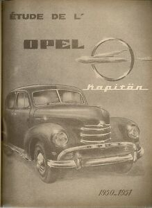 REVUE TECHNIQUE AUTOMOBILE 94 RTA 1954 OPEL KAPITAN MOTEUR BUDA TYPE 6 BD 230
