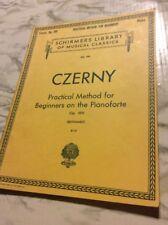 Schirmer's Library Czerny Practical Method for Beginners on the Pianoforte op599