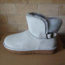 UGG Classic Mini Karel Buckle Geyser Suede Sheepskin Cuff Boots Size US 7 Womens