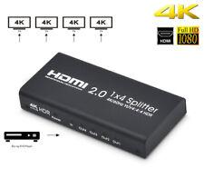 HDMI 2.0 Switcher 1 x 4 Splitter Support 4K/60Hz Set Box DVD PS3 PS4 XBox