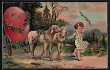 Antique Vintage Postcard Easter Greetings
