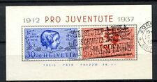 Switzerland 1937 SG#MSJ83a Pro Juventute Used M/S Cat £75 #A35250