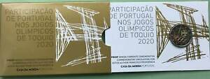 Portugal 2 Euro CoinCard 2021 Olympische Spiele Tokio Official Coin Set Proof PP