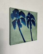 Shane Townley art painting originalCONTEMPORARY oil IMPRESSIONISM Palmtree Ocean