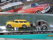 2016 Maisto Design traino & Go 1967 CHEVROLET EL Camino/ Viaggiatore Trailer