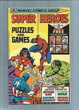 MARVEL COMICS;  SUPER HEROES PUZZLES & GAMES PROMO COMIC