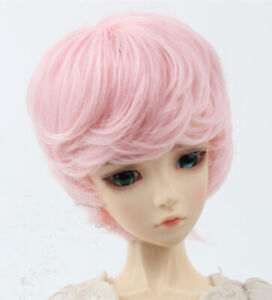 New High temperature pink short hair For 1/3 1/4 1/6 BJD Doll