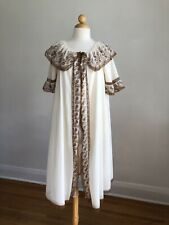 New listing Gorgeous Vtg Hollywood Vassarette Ivory & Brown Chiffon & Lace Peignoir Robe S/M