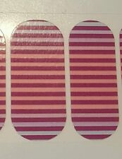 Jamberry 1/2 Sheet, IT'S COMPLICATED, purple/pink striped ombre on clear