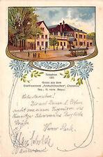 Chemnitz Sachsen Restaurant Feldschlösschen Strassenbahn Postkarte 1910
