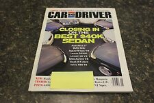 CAR AND DRIVER CLOSING IN ON THE BEST $40K SEDAN MAY 2000 VOL.45 #11 9248-1