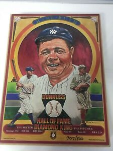 """Babe Ruth 8x10x 1/2"""" Donruss Plaque  Limited Edition."""