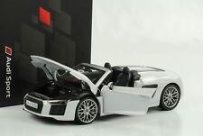 Audi r8 v10 Spyder blanc modele 1:18 iScale Dealer