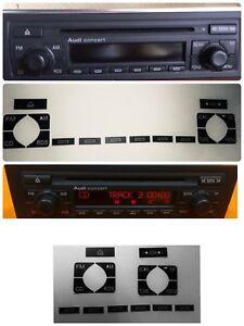 PEGATINAS PARA RESTAURAR AUDI A4 B6 AUDI A4 B7 KIT PARA REPARAR RADIO CONCERT