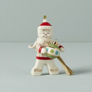 LENOX 2021 Annual GINGERBREAD Trimming The Tree Christmas ORNAMENT NEW 892557