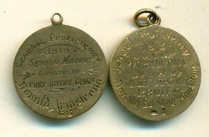 Canada Regina Sask 2 x Gold Medals 1918 7.7gr 10k 1919 6.4gr 10k Regina .189 AGW