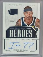 2018-19 Panini National Treasures Hometown Heroes Isaiah Thomas Auto 43/49 SP