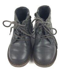 Zara Boys Leather Boots Grey Size 7 UK  24 EU