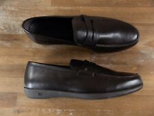 ERMENEGILDO ZEGNA brown leather loafers - Size 10.5 US / 9.5 UK / 43.5 EU